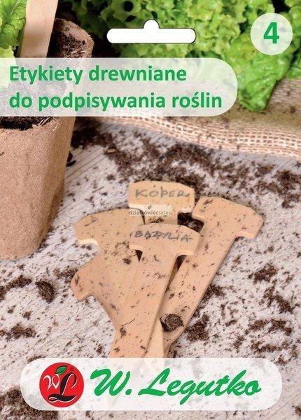 Etykiety drewniane do podpisywania roślin (5 szt.)