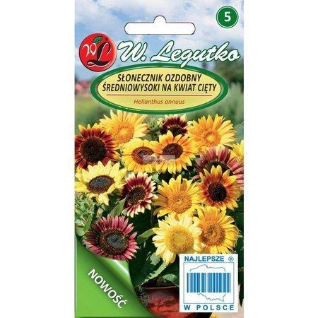 Słonecznik ozdobny średnio-wysoki pojedynczy - mix na kwiat cięty (3 g)